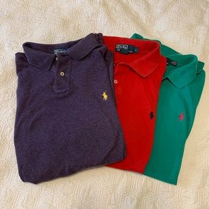Bundle of 3 Polo by Ralph Lauren solid shirts